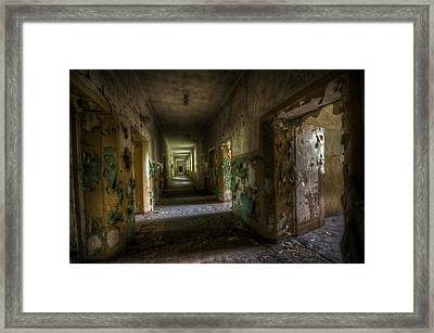 Long And Dark Framed Print by Nathan Wright