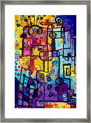 Lost Papers And Urban Plans Framed Print by Regina Valluzzi