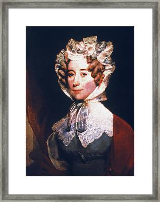 Louisa Catherine Adams (1775-1852) Framed Print by Granger