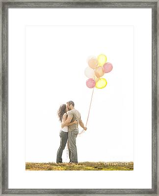 Love And Balloons Framed Print by Diane Diederich