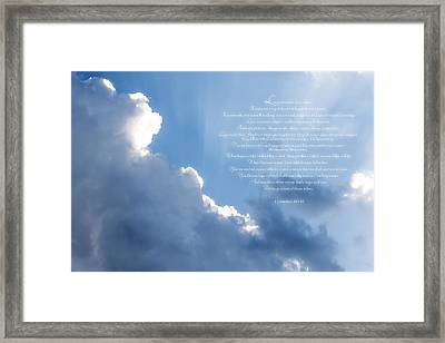 Love Is - I Framed Print by Anthony Rego