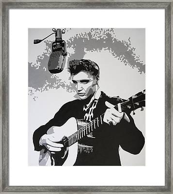 Tribute To Elvis Framed Print by Bitten Kari