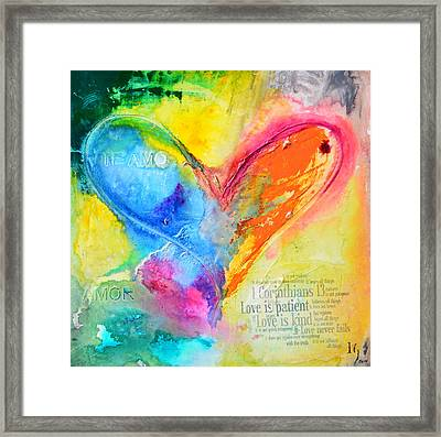 Love Never Fails Framed Print by Ivan Guaderrama