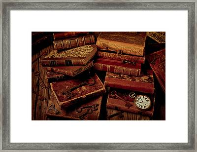 Love Old Books Framed Print by Garry Gay