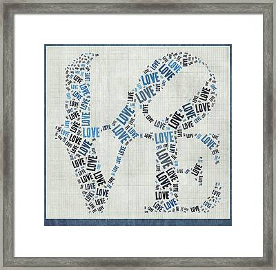 Love Quatro - Heart - S111b Framed Print by Variance Collections
