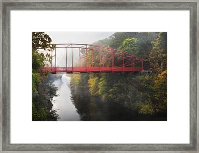 Lovers Leap Bridge Framed Print by Bill Wakeley