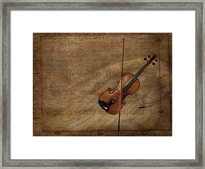 Marriage Proposal Framed Print featuring the mixed media Lovesong by Heike Hultsch