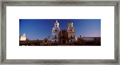 Low Angle View Of A Church, Mission San Framed Print by Panoramic Images
