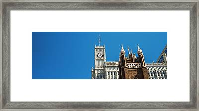 Low Angle View Of A Clock Tower, Lamar Framed Print by Panoramic Images