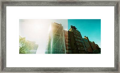 Low Angle View Of Buildings Framed Print by Panoramic Images