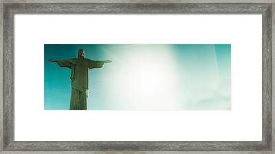Low Angle View Of Christ The Redeemer Framed Print by Panoramic Images
