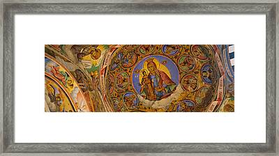 Low Angle View Of Fresco On The Ceiling Framed Print by Panoramic Images