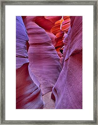 Lower Antelope Canyon Tones And Curves Framed Print by Robert Jensen
