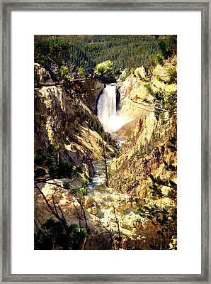 Lower Falls 2 Framed Print by Marty Koch