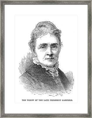 Lucretia Garfield (1832-1918) Framed Print by Granger