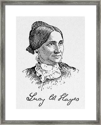 Lucy Hayes (1831-1889) Framed Print by Granger