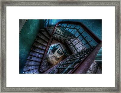 Lunatic Stairs Framed Print by Nathan Wright