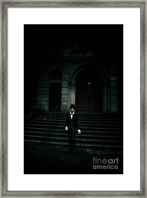 Lurking In The Shadows Of Darkness Framed Print by Jorgo Photography - Wall Art Gallery