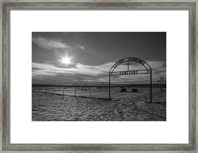 Luther Gemeinde Cemetery Framed Print by Chad Rowe
