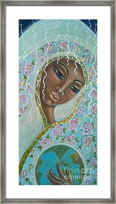 Ma -first Sound In The Universe Framed Print by Maya Telford
