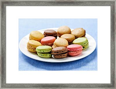 Macaroon Cookies Framed Print by Elena Elisseeva