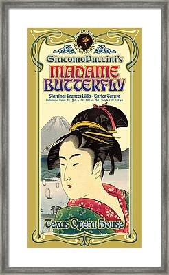 Madame Butterfly Framed Print by Gary Grayson
