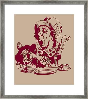 Magenta Mad Hatter  Framed Print by