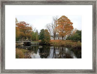 Maine Farmhouse Framed Print by Becca Brann