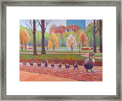 Make Way For Ducklings Framed Print by Dianne Panarelli Miller