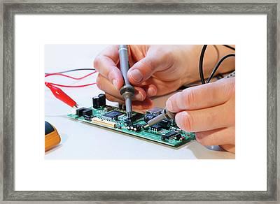 Making An Electronic Micro Processor Framed Print by Wladimir Bulgar