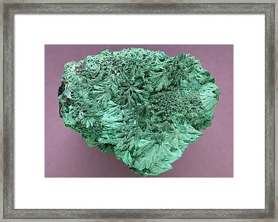 Malachite Mineral Framed Print by Science Photo Library