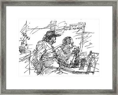 Man At The Bar Framed Print by Ylli Haruni