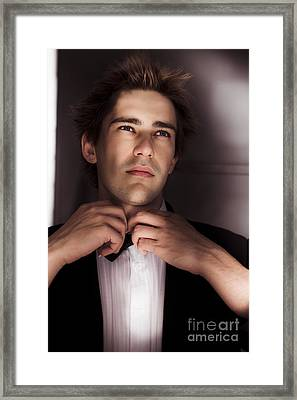 Man Getting Ready For Black Tie Formal Event Framed Print by Jorgo Photography - Wall Art Gallery
