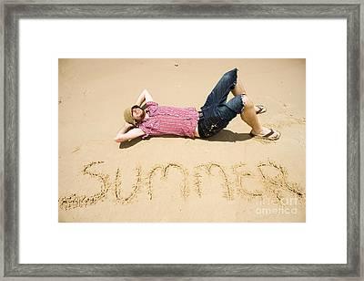 Man Of Summer Framed Print by Jorgo Photography - Wall Art Gallery