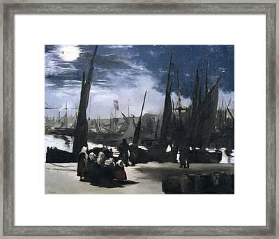 Manet, �douard 1832-1883. Moonlight Framed Print by Everett