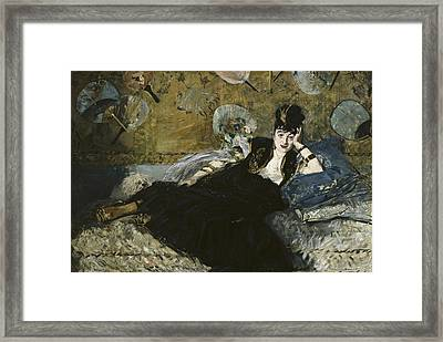 Manet, �douard 1832-1883. The Lady Framed Print by Everett