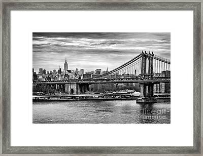 Manhattan Bridge Framed Print by John Farnan