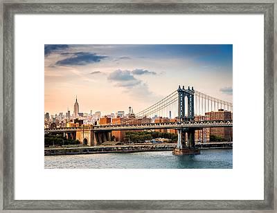 Manhattan Bridge Framed Print by Mihai Andritoiu