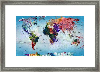 map Framed Print by Mark Ashkenazi