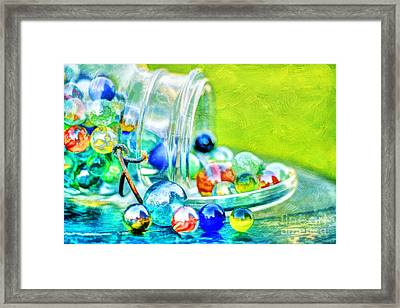 Marbles Framed Print by Darren Fisher