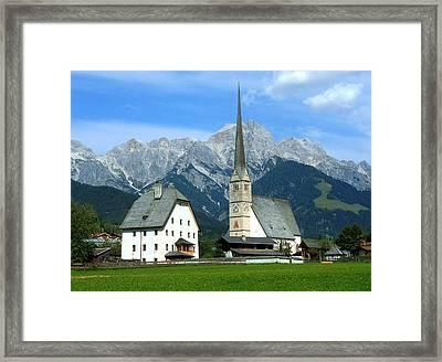 Maria Alm Framed Print by Juergen Weiss