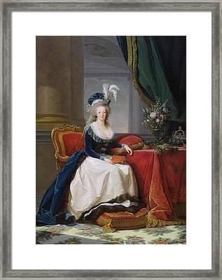 Marie Antoinette Framed Print by Elisabeth Louise Vigee-Lebrun