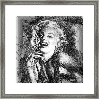 Marilyn Monroe - The One And Only  Framed Print by Rafael Salazar