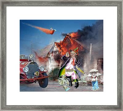 Mario Moreno As Cantinflas In El Bombero Atomico  Framed Print by Jim Fitzpatrick