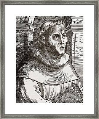 Martin Luther, German Theologian Framed Print by Middle Temple Library