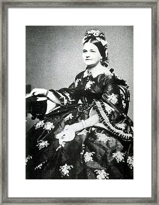 Mary Todd Lincoln, First Lady Framed Print by Science Source