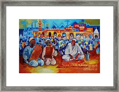 Maseed Maseed 9 Framed Print by Mohamed Fadul