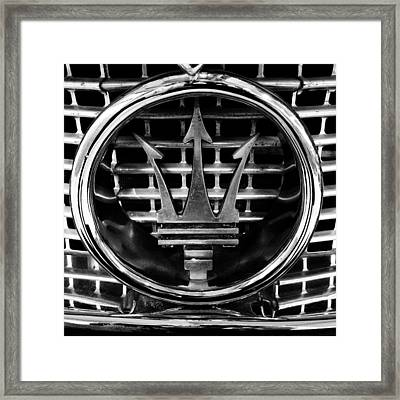 Maserati Framed Print by Les Cunliffe