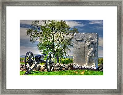 Massachusetts At Gettysburg - 1st Andrews Sharpshooters Unattached Mass. Vol. Infantry Hancock Ave Framed Print by Michael Mazaika