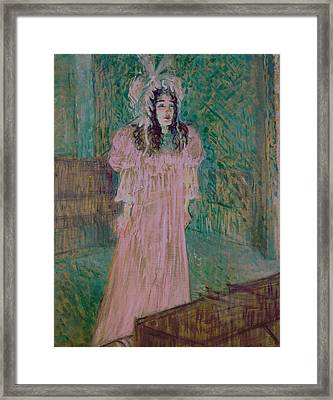 May Belfort Framed Print by Henri de Toulouse-lautrec